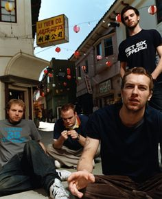hanging out on the street - Chris looks so cute here