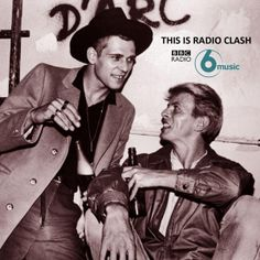 David Bowie and Paul Simonon of The Clash backstage at New York's Shea Stadium when the band opened for The Who on October 12th 1982
