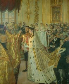 The Marriage of Nicholas II, Tsar of Russia, 26th November 1894 (royal collection ) click on image to see details of a large size version