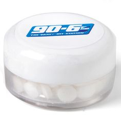 This Sweet Tooth Candy Jar is FDA approved and has peppermint flavoured sugar free mints. The mints come in a small tub with a white screw on lid, when you've finished the mints you can reuse the tub! Sugar Free Mints, Small Tub, Candy Jars, Corporate Gifts, Reuse, Peppermint, Sweet Tooth, Personal Care, Canning