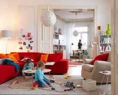 13 Ideas That Will Make You Fall In Love With A Red Sofa | Orange ...