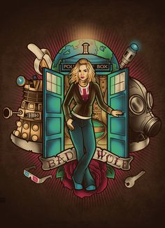 I am the Bad Wolf Art Print by Megan Lara | Society6 Rose Tyler. Doctor Who.