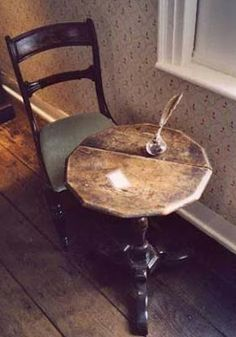 This tiny table is where Jane Austen worked