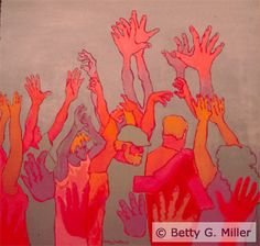 """Deaf Art: Betty Miller """"Celebration"""".....for me celebrating family and the holidays!"""