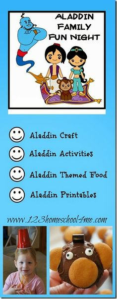 Aladdin Disney Family Fun Night Disney Aladdin Family Fun Night with Aladdin craft, Aladdin Kids Activities, and Aladdin food – Disney Crafts Ideas Aladdin Game, Aladdin Movie, Aladdin Birthday Party, Aladdin Party, Disney Dinner, Disney Fun, Family Movie Night, Family Movies, Disney Activities