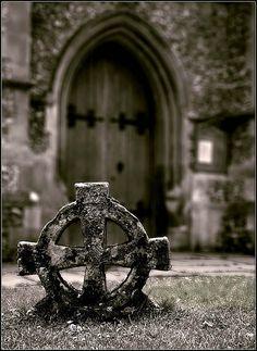 Celtic burial cross