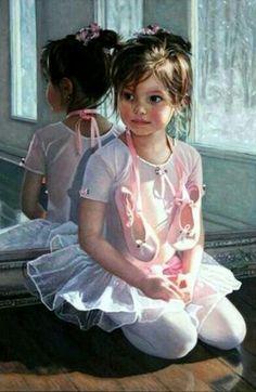 little ballerina painting
