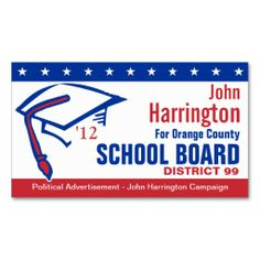 Campaign sign example political yard signs pinterest campaign political campaign school board business card like this format reheart Images