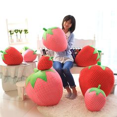 Cheap gift cubes, Buy Quality gift brush directly from China gift alarm Suppliers: 2016 Big Strawberry Cute Cartoon Pillow Cushion Plush Toys Valentine's Day Gifts For Baby 1pc 25cm L917