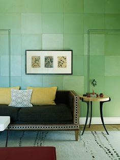Not just a food trend, Kale is predicted as one of the top Pantone colours for the year 2017. Great introduced subtely with an ottoman, cushion or atwork...