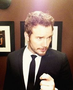 Chris Pratt Backstage at #Kimmel. I thought he was hot as Andy on Parks and Rec, but Wow!