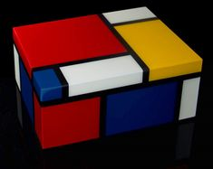 Piet Mondrian : lacquered wood box : Modulor