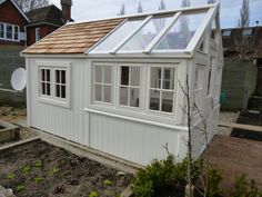 bespoke greenhouse combined Posh shed #conservatorygreenhouse