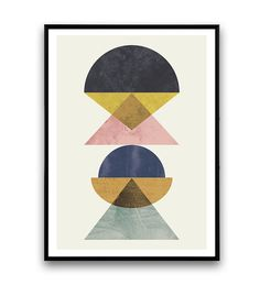 Fits Ribba frames! Abstract poster minimalilst print mid century modern by Wallzilla