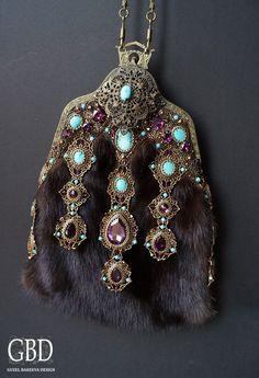 Bead embroidery purse