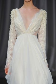 Wedding gown with freshwater pearls for Jeyne Westerling - Christian Siriano spring 2013
