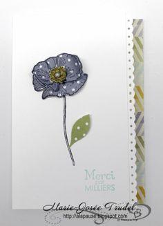 A La Pause: Marie-Josée Trudel, Happy Watercolor, SU, Stampin' Up! carte