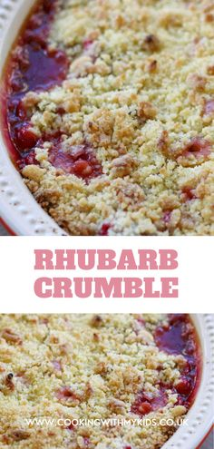 There are lots of delicious puddings you could make with rhubarb but I can never see past making a tasty, crunchy, sweet dish of easy rhubarb crumble. #rhubarb #crumble #dessert #easy recipe #homemade #made with kids #recipe Easy Rhubarb Crumble, Rhubarb Rhubarb, Summer Desserts, Easy Desserts, Delicious Desserts, Dessert Recipes, Traditional English Food, Sticky Toffee Pudding, Crumble Recipe