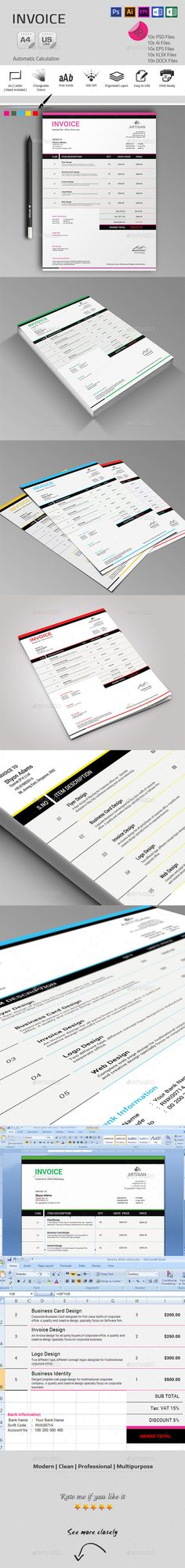 Invoice Template | Download: http://graphicriver.net/item/invoice/9900319?ref=ksioks