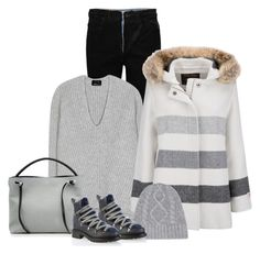 """""""Woolrich W's Bonded Wool Parka-contest"""" by bodangela ❤ liked on Polyvore featuring Alexander Wang, Acne Studios, Woolrich, Frame Denim and Maison Margiela"""