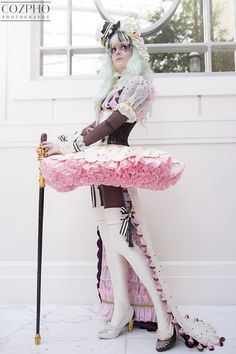 "Full shot of my Sakizou Chocolate cosplay taken at Katsucon! I love costumes with lots of ruffles.   Sakizou's ""Chocolate""    Original design by Sakizou   Photo by Cozpho   Cosplay made entirely by me, Effy Sews Cosplay  See more at facebook.com/kirakirashimai IG @effysewscosplay"
