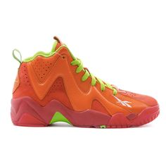 outlet store ae070 e0221 Reebok Kamikaze II 2 MID Chilli Sneakers in Red Orange Green Hypebeast,  Chili, Packers