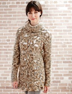 Granny Openwork Pullover: free #crochet #pullover #pattern
