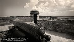 Fort Matzanas St Augustine Florida  12x18 Limited Edition Metal Print by TheAndyMoineCompany, $125.00 #Photography #Blackandwhitephotography #FineArt
