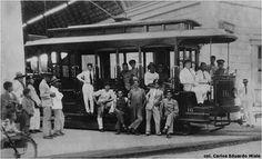 Tranvía fotografiado en Valencia en la década del 30 del siglo XX.