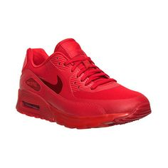 Women's Nike Air Max 90 Ultra Essentials Running Shoes (165 AUD) ❤ liked on Polyvore featuring shoes, athletic shoes, nike footwear, nike, slim shoes, athletic running shoes and nike shoes