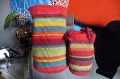 Striped Felted Purse | AllFreeCrochet.com