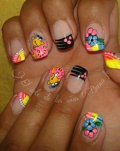 76 Mejores Imágenes De Uñas Muñecos Cute Nails Fingernails