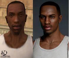 Grand Theft Auto Games, Grand Theft Auto Series, San Andreas, Gta Funny, Carl Johnson, Rockstar Games, Looks Cool, Evolution, 3 D