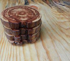 Rustic Juniper Wood Coasters