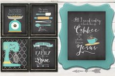Chalkboard Style Kitchen Prints - Just $3.99! - http://www.pinchingyourpennies.com/chalkboard-style-kitchen-prints-just-3-99/ #Chalkboardstyle, #Kitchenprints, #Pickyourplum, #Pinchingyourpennies