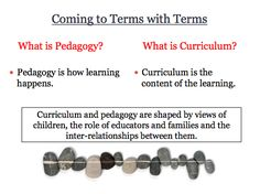 What is Pedagogy What is Curriculum