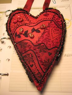 crazy quilting - love red and black!