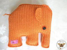 Wildmoths Handcrafted Creations: Orange Elephant