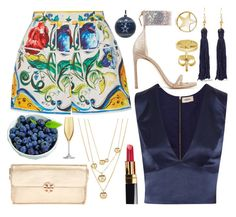 """""""Aleisha"""" by goingdigi ❤ liked on Polyvore featuring Dolce&Gabbana, L'Agence, Talbots, Stuart Weitzman, Kenneth Jay Lane, BERRICLE, Tory Burch, Chanel, Vagabond House and LSA International"""