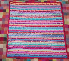 """instructions for how make this pattern on a blanket! the blogger calls it a """"groovy-ghan"""" :)"""