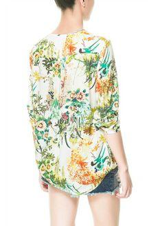 Vintage Flower Embellished Shirt | Sprence