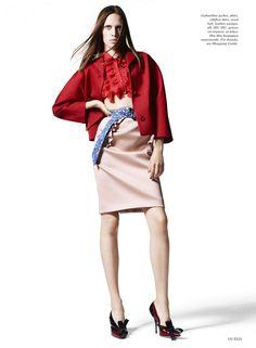 Georgia Hilmer by Liz Collins for Elle US January 2015