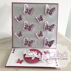 Shop here at Chloes Creative Cards for excellent value Papers by Chloe 6 x 6 Luxury Dimensional Paper Pad at just You will also find a selection of other wonderful here too. Chloes Creative Cards, Stamps By Chloe, Create And Craft Tv, Crafters Companion Cards, Butterfly Cards, Beautiful Butterflies, Embossing Folder, Dragonflies, Clear Stamps