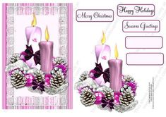 A pretty design to give for Christmas. Layer it up on card of your choice and maybe add a little glitter.....very quick card to made.   The candle setting is available at CUP in my Designer Resources (Christmas Candles Set 2) for those who like to design their own cards