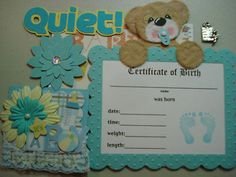 Tear Bear Paper Piecing - Scrapbook Page