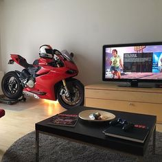 regram @ducatistagram Living Room Goals! Photo: @zalambodont #ducatistagram…