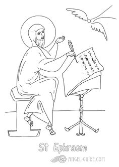 Saint Ephraem Angels In The Lives Of Saint Coloring Pages From Our