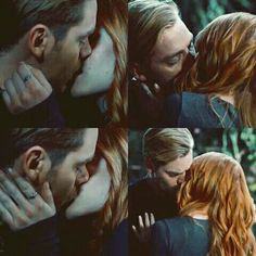 Clace kiss. Finally! Jace and Clary in the Seelie Court. Shadowhunters 2x14