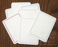 ..free - simple border journaling card by Yellow Umbrella