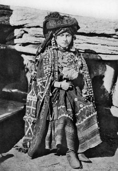 """Woman in traditional dress."" (Georgia, 1897) Photographer: F. Orden"